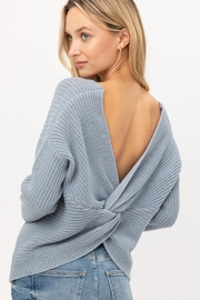 Lovetree Oversized Twist-Back Sweater - Front cropped