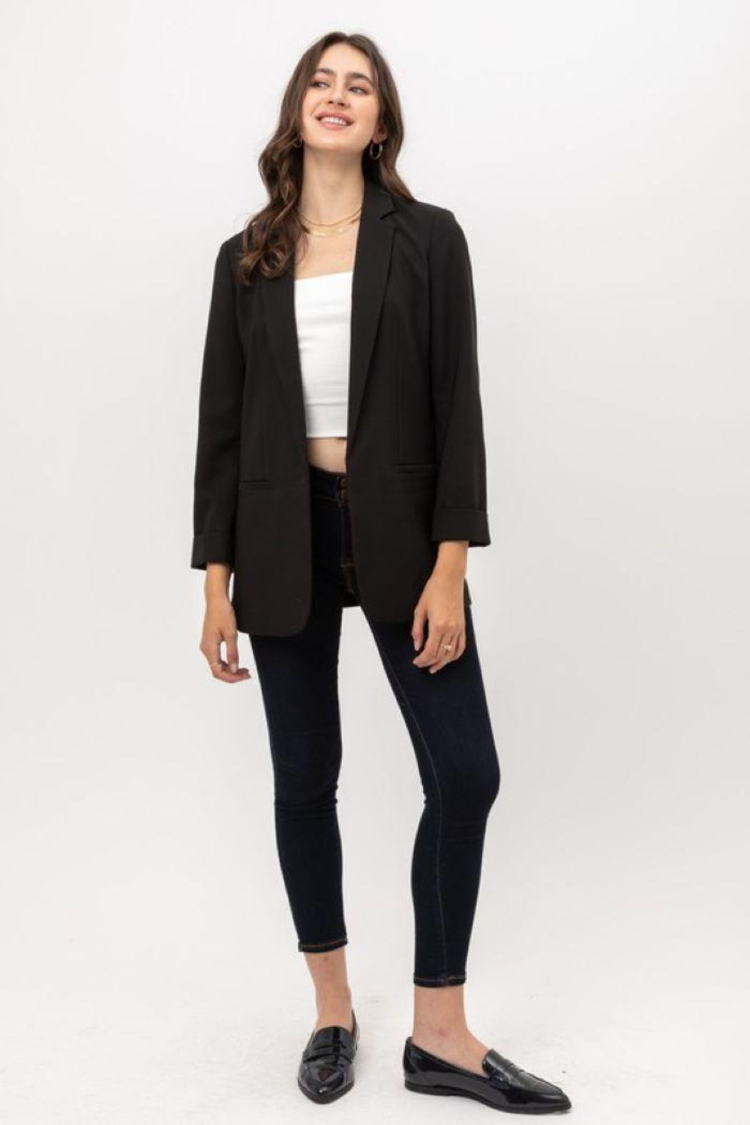 Lovetree Oversized Vertigo Blazer - Side Cropped Image