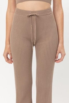 Lovetree Ribbed Flared Pants - Product List Image