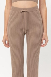 Lovetree Ribbed Flared Pants - Product Mini Image
