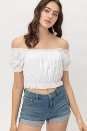 Lovetree Ruffed Off Shoulder Crop Top - Product Mini Image