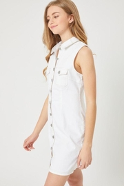 Lovetree Sleeveless Denim Shirt Dress - Product Mini Image
