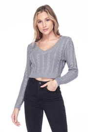 Lovetree Solid Cable Knit Crop Top - Other