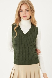 Lovetree V-Neck Casual Vest Top - Front cropped
