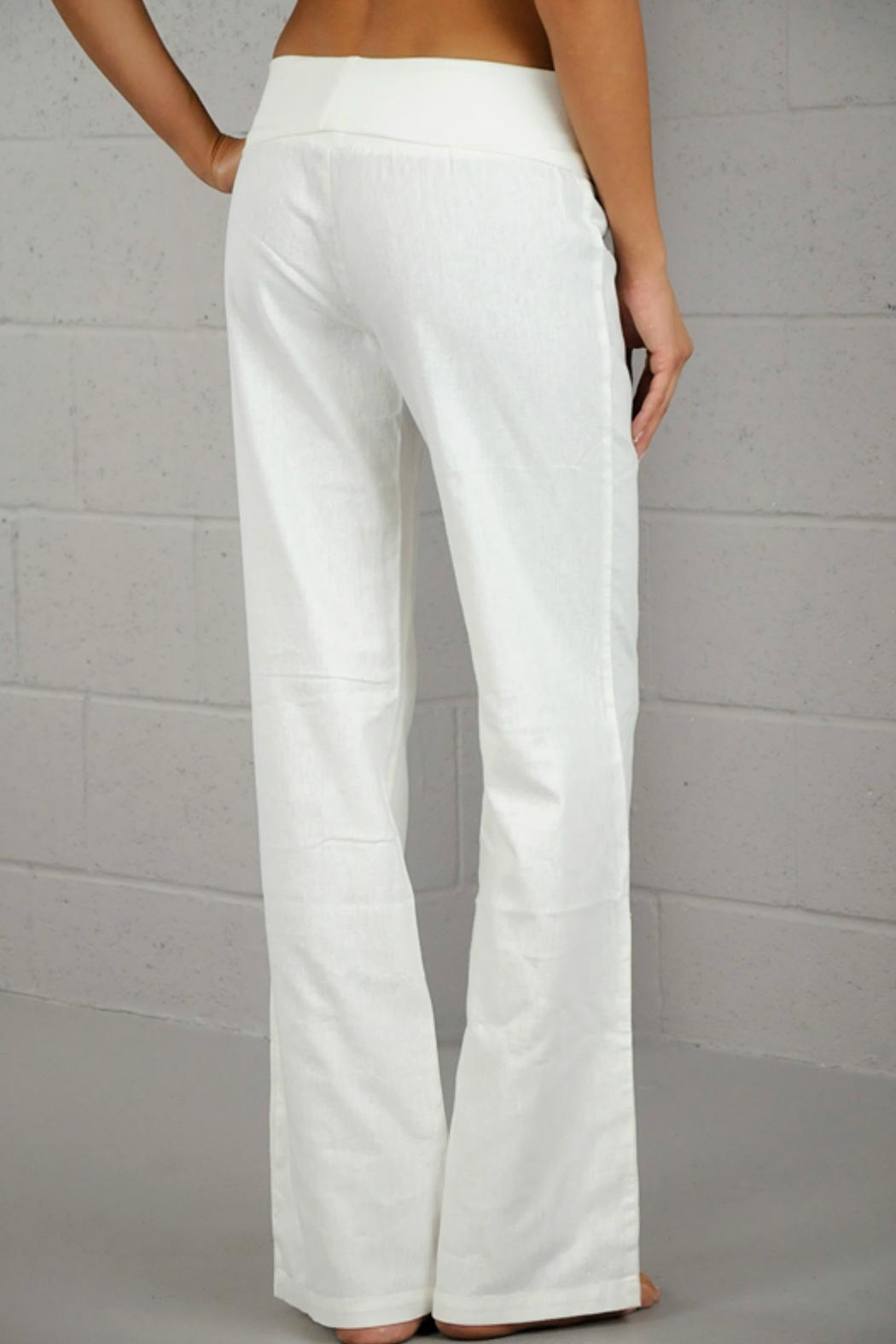 Lovetree White Linen Pant - Side Cropped Image