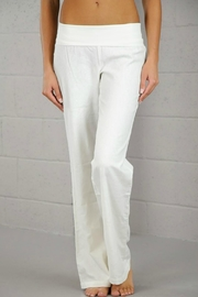 Lovetree White Linen Pant - Front cropped