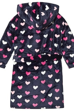 Hatley Lovey Hearts Fleece Robe - Alternate List Image