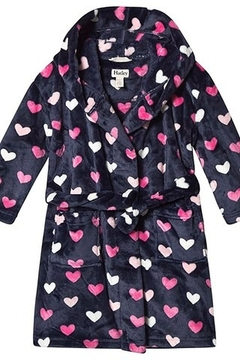 Hatley Lovey Hearts Fleece Robe - Product List Image