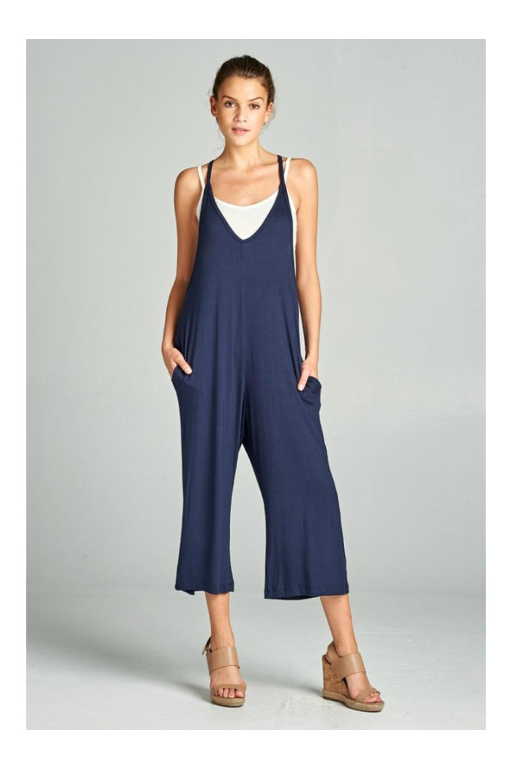 Loving People Loose Fit Jumpsuit - Front Cropped Image