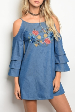 Lovposh Chambray Embroider Dress - Product List Image