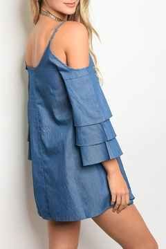 Lovposh Chambray Embroider Dress - Alternate List Image