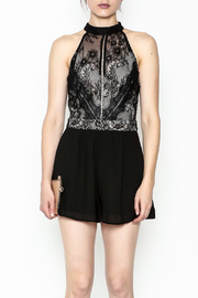Lovposh Lace Detail Romper - Front full body