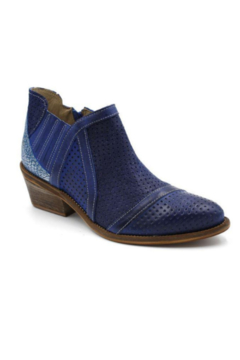 Casta Low Ankle Boot with 3-tone Blue Leather - Alternate List Image