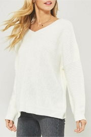 Promesa Low-Back Ivory Sweater - Product Mini Image