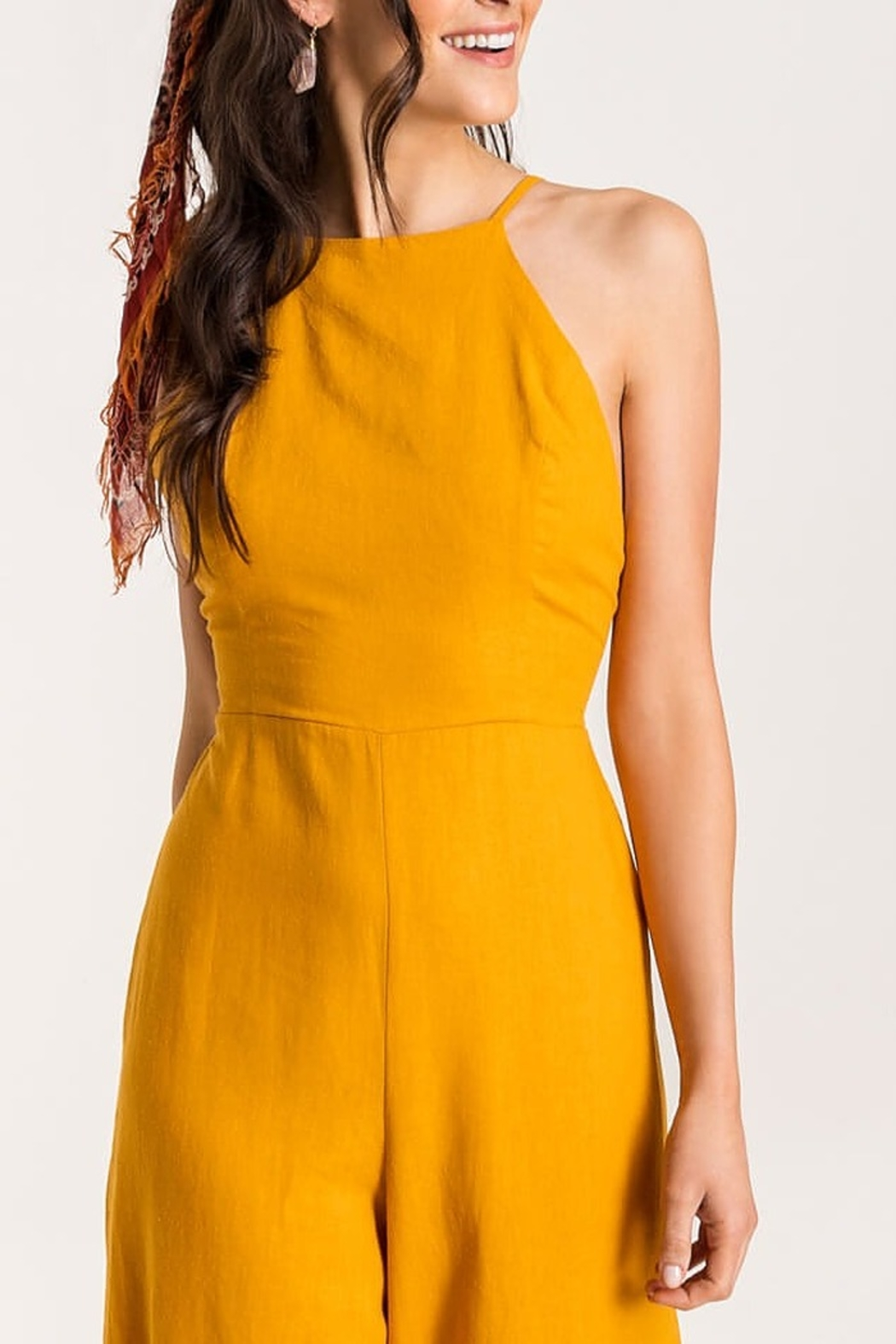 Lush  Low Back Jumpsuit - Side Cropped Image