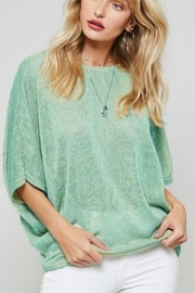 Promesa Low Back-Knotted Knit-Top - Product Mini Image