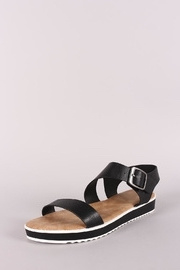 Bamboo Low Flatform Sandals - Product Mini Image