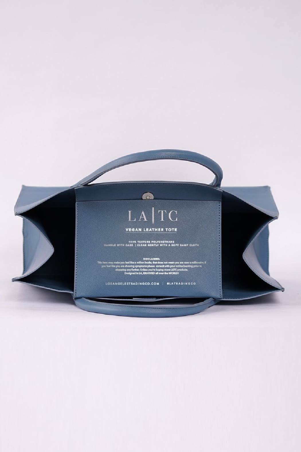 Los Angeles Trading Co.  Low Key Boujee Modern Tote - Front Full Image