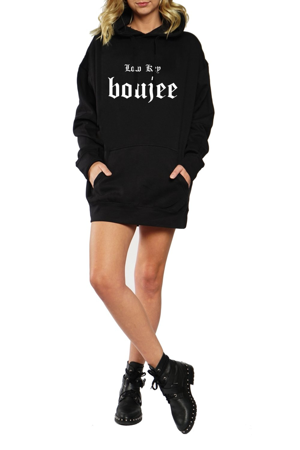 LA Trading Co. Low Key Boujee Overszed Hoody - Front Cropped Image