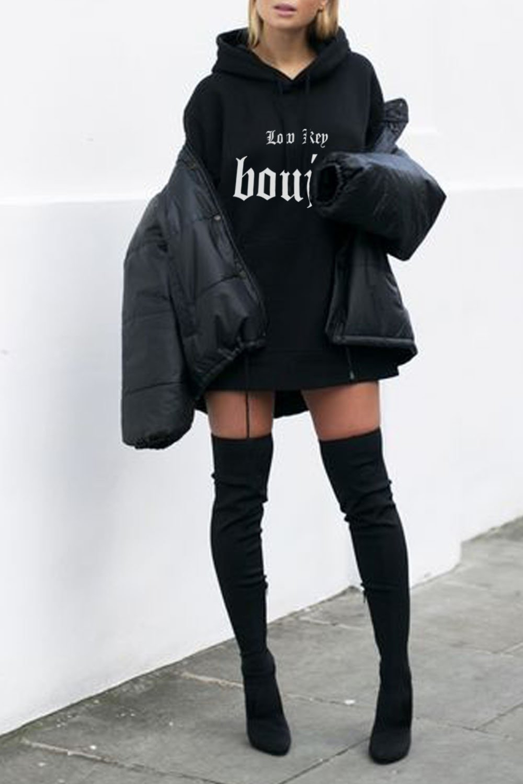 LA Trading Co. Low Key Boujee Overszed Hoody - Front Full Image