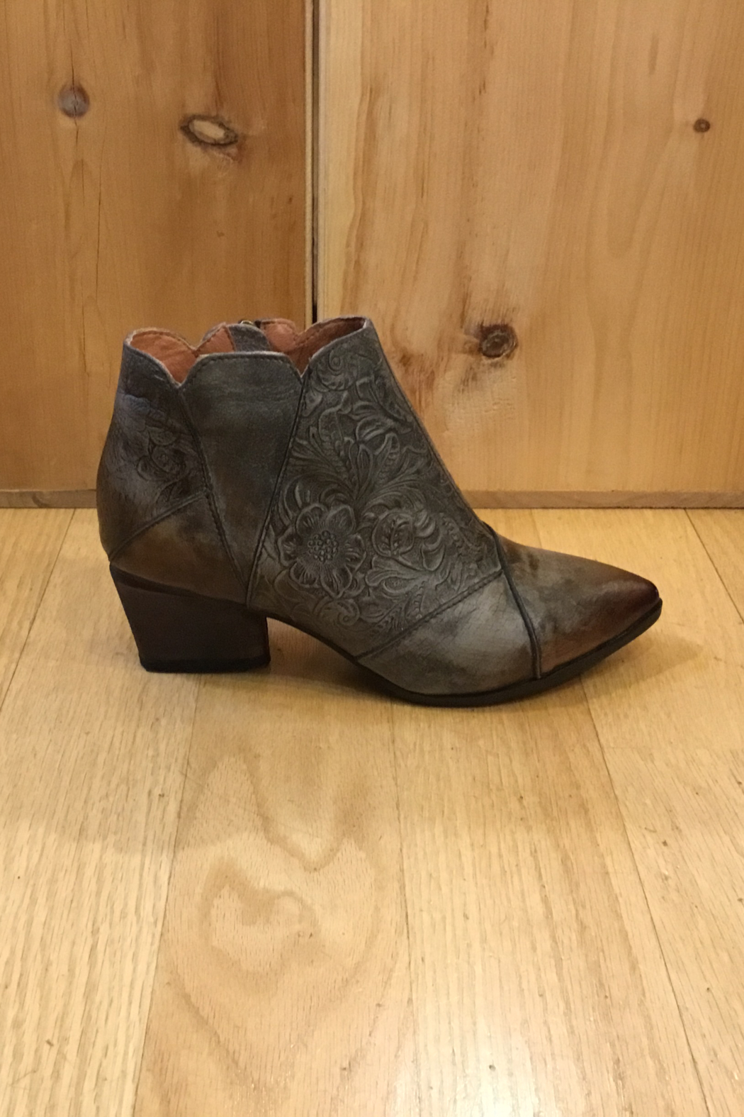 Spring Step  Low pointed toe bootie - Front Cropped Image