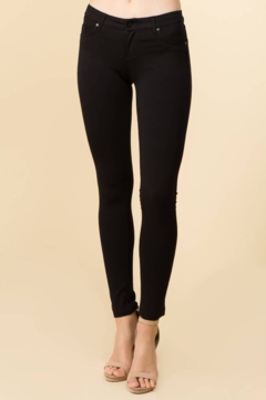 Beleza Shoppe Low Rise Black Stretch Pants - Product List Image