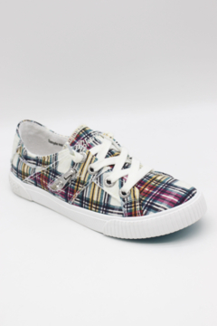 Blowfish Low Top Laced Plaid Sneakers - Product List Image
