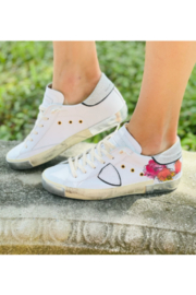 Phillippe Model Low Top with Flowers and Glitter - Side cropped