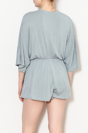 She + Sky Low V Neck Modal Romper - Back cropped