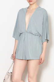 She + Sky Low V Neck Modal Romper - Side cropped