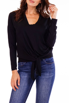 Veronica M Low V Tie Bottom L/S Top - Product List Image