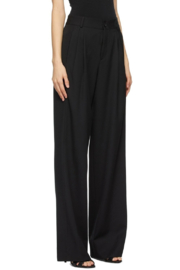 Saint Laurent Low Waisted Flare Front Pleated Pants - Product Mini Image