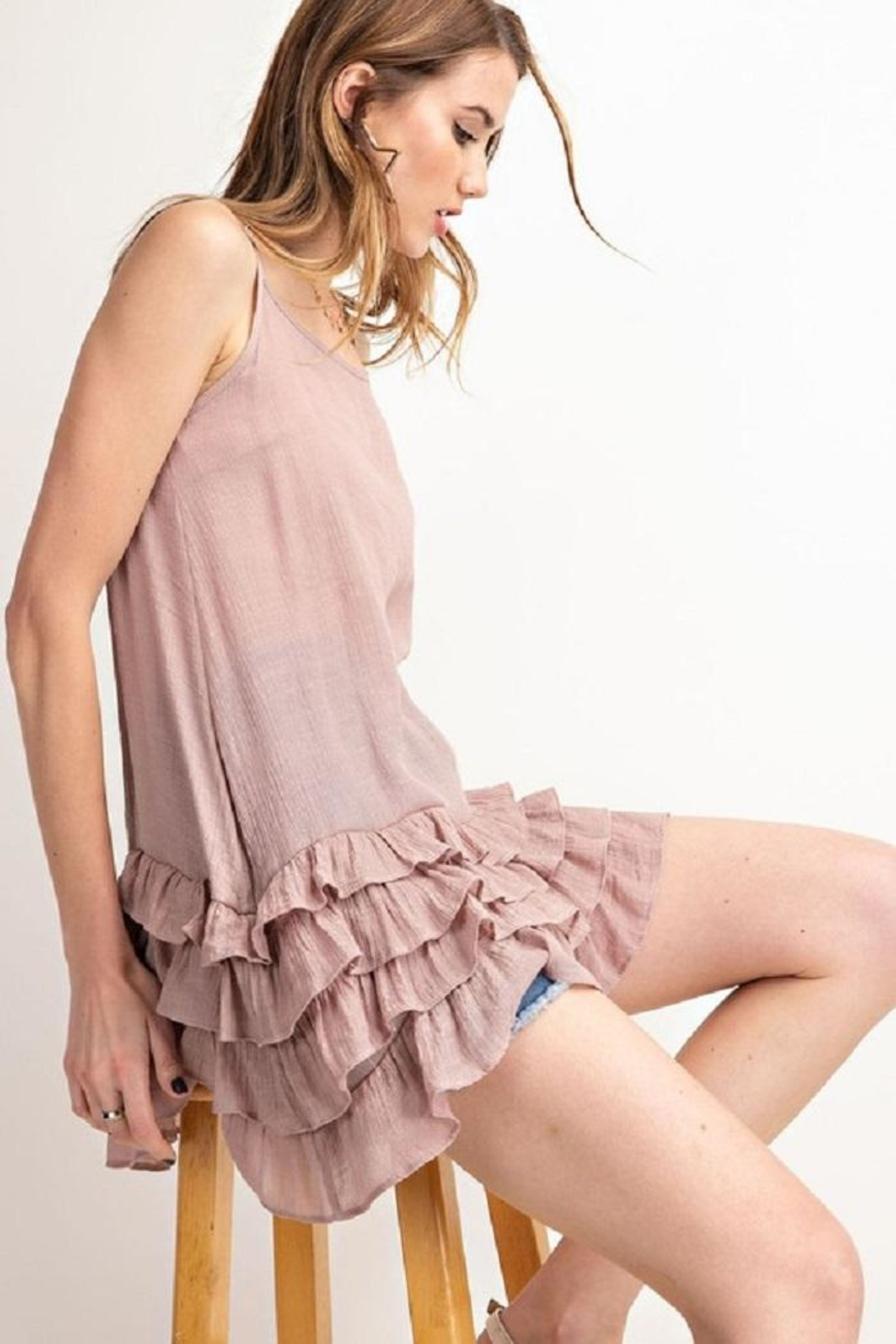 easel Lowly Silky Cami - Front Full Image