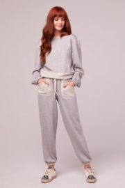 Band Of Gypsies Loy Shimmer Contrast Jogger - Product Mini Image