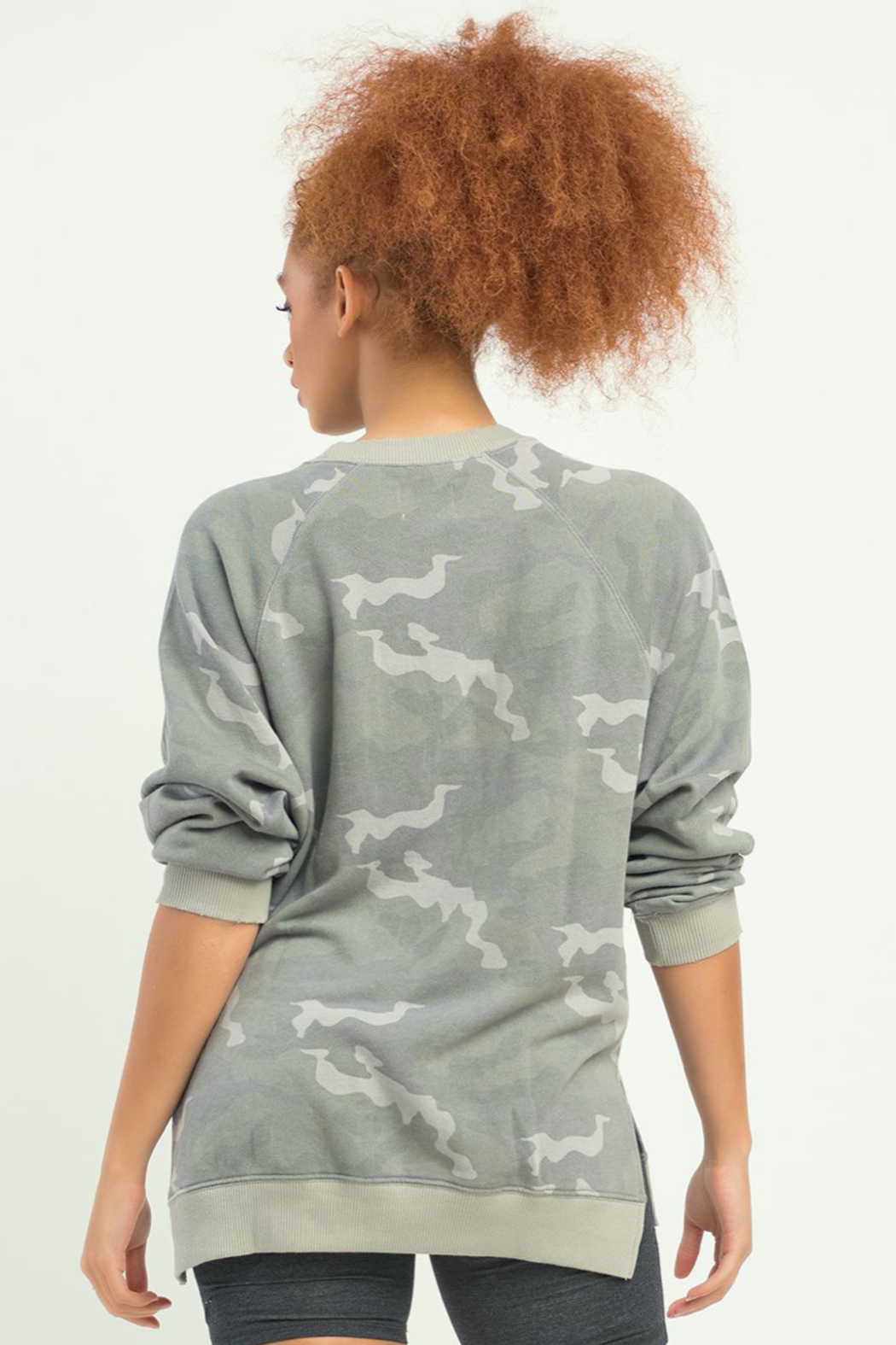 Dex LS OVERSIZED CAMO PULLOVER - Side Cropped Image
