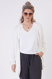 Dex Textured Knit Cardigan - Back cropped