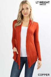 Zenana Outfitters Lt-Weight Hacci Cardigan - Product Mini Image