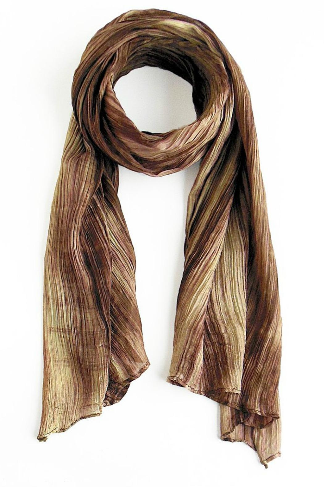 LUA Watercolor Beige Scarf - Front Cropped Image