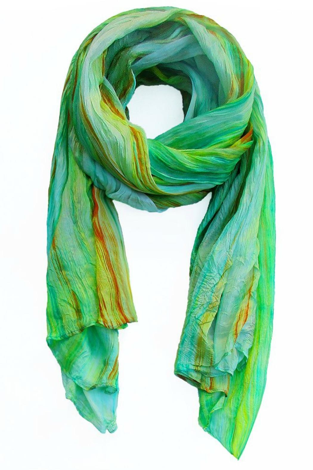 LUA Watercolor Silk Scarf - Front Cropped Image
