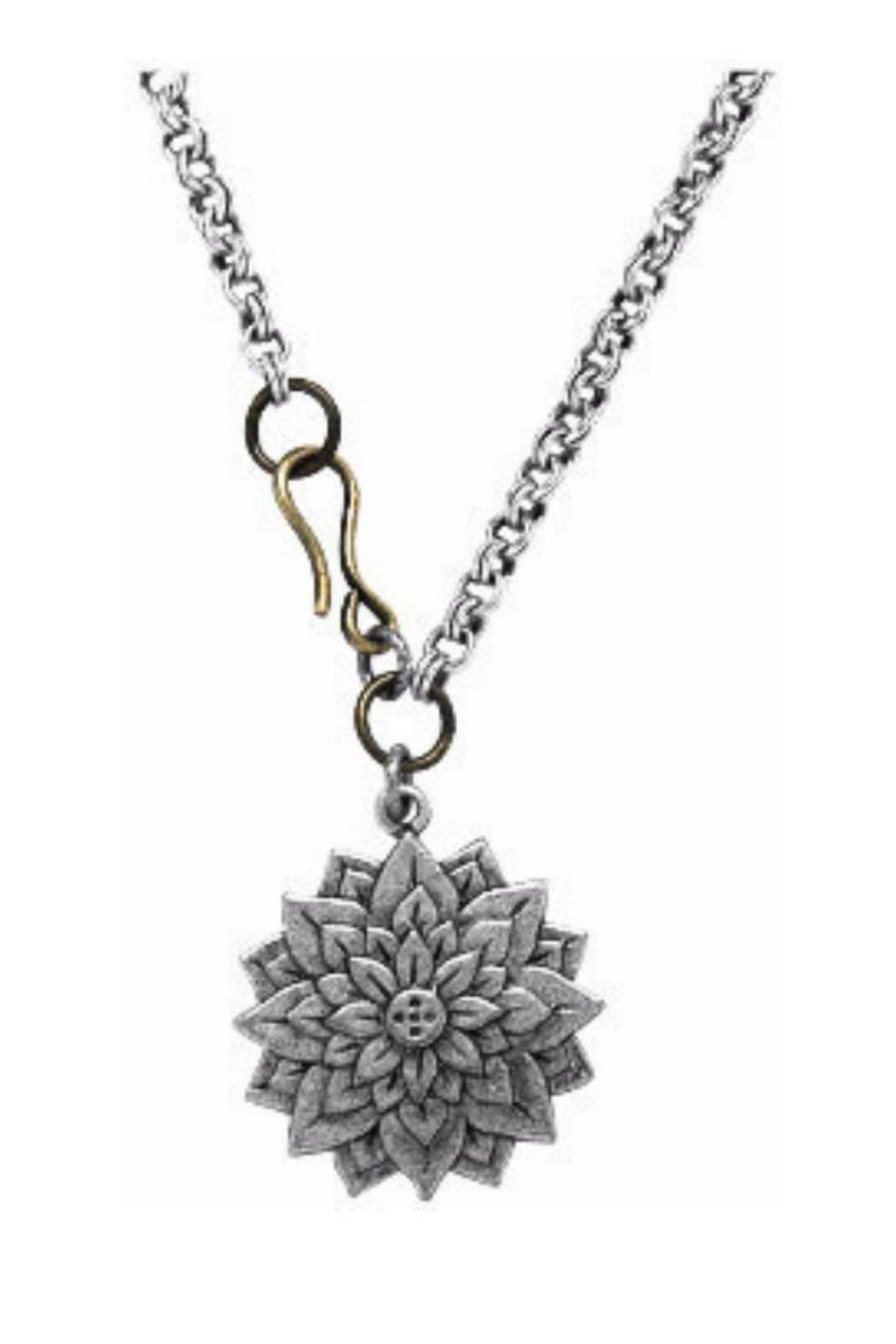 Luca danni lotus flower pendant from new york by lets accessorize luca danni lotus flower pendant front cropped image izmirmasajfo