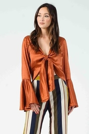 Lucca Couture Celeste Tie Front Top - Product Mini Image