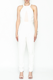 lucca couture White Halter Jumpsuit - Front full body