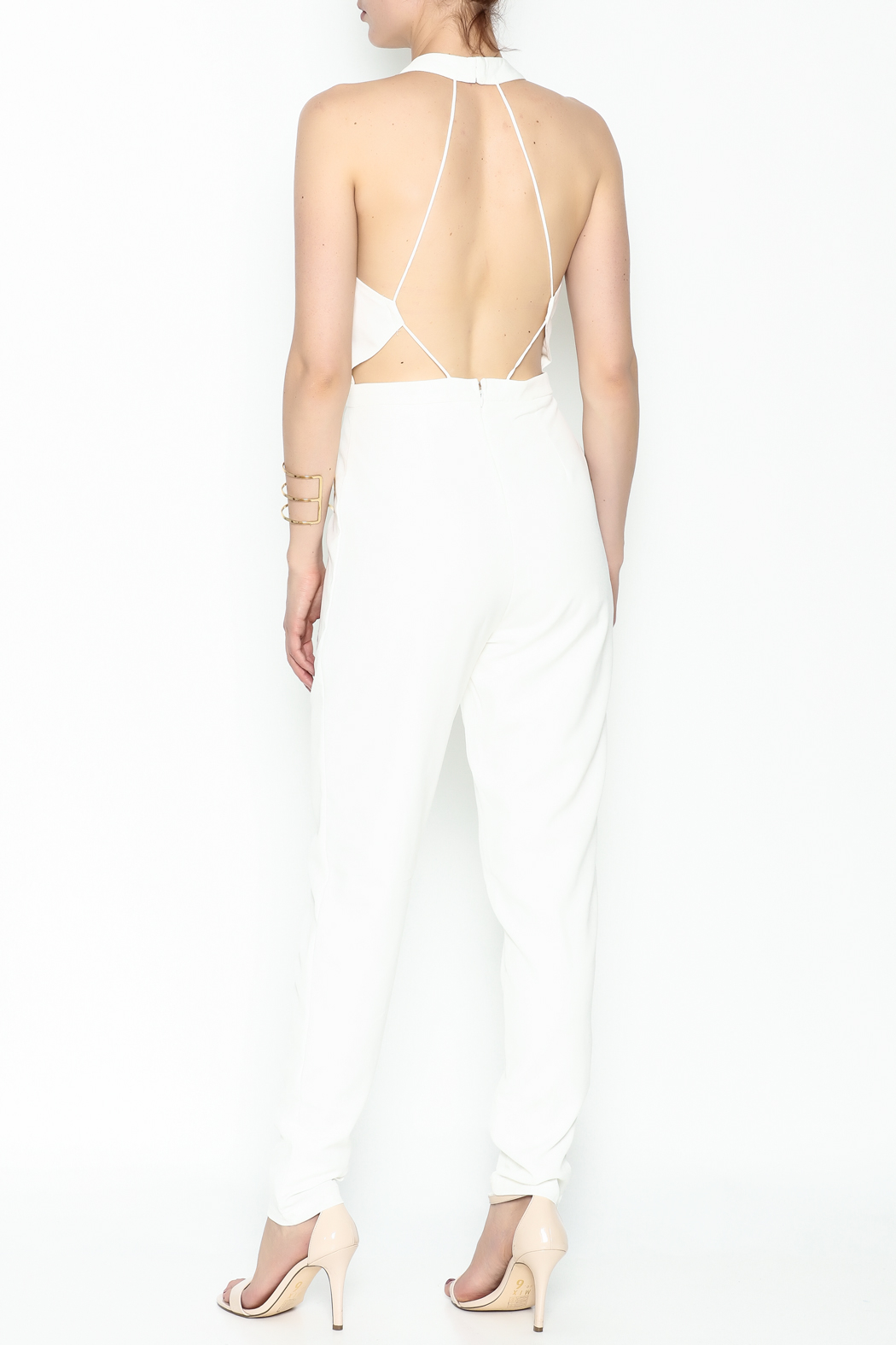 lucca couture White Halter Jumpsuit - Back Cropped Image
