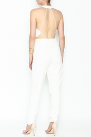 lucca couture White Halter Jumpsuit - Back cropped