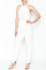 lucca couture White Halter Jumpsuit - Front cropped