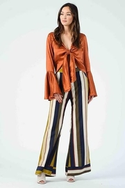 Lucca Couture Isla Contrast Cuff Pants - Front full body