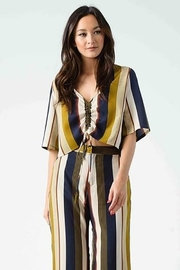 Lucca Couture Karma Cinched Blouse - Front cropped
