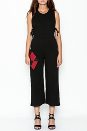 lucca couture Black Side Tie Jumpsuit - Front full body