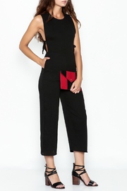 lucca couture Black Side Tie Jumpsuit - Product Mini Image