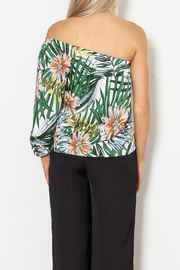 lucca couture Palm Print Top - Back cropped